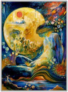 Rassouli, paintings, Reflection