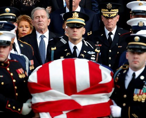 Highlights from an emotional state funeral for former President George HW Bush, BBC