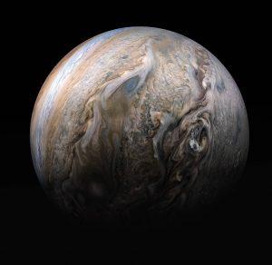 Jupiter tumultuous clouds, Juno